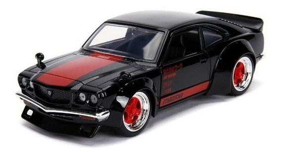 Miniatura Mazda Rx-3 1974 Jdm Tuners Preto 1:24 Jada Toys