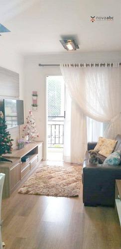 Imagem 1 de 21 de Apartamento Com 2 Dormitórios À Venda, 65 M² Por R$ 390.000,00 - Vila Curuçá - Santo André/sp - Ap3179