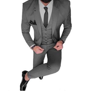 Saco Con Traje Satinado Zapato Cinto Y Camisa Import