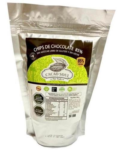 Chocolate Premium Sin Azucar Monedas Vegano 85%