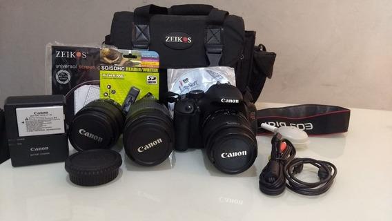 Câmera Canon Eos T3i Com Apenas 3834 Cliques