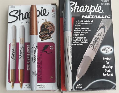 Marcadores Metalico Sharpie Tarjeteria Pack 2 Bronce Y Plata