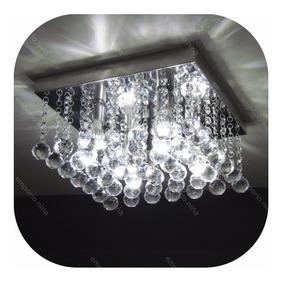 Pendente De Cristal Acrílico Bright Al36 Base Inox Espelhada