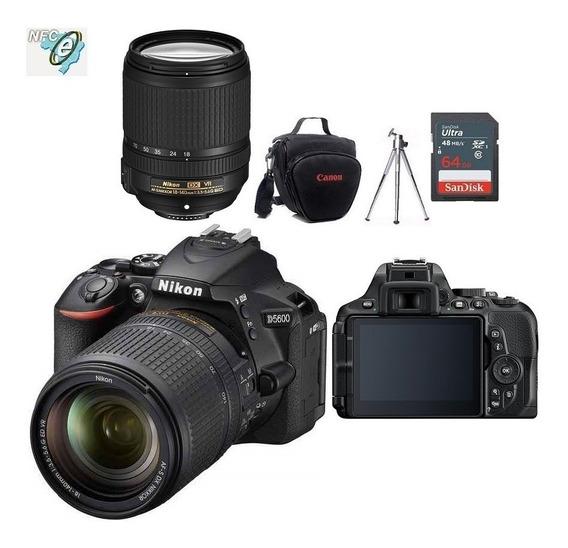 Nikon D5600 Lente 18-140mm + Bolsa+tripe+32gb Nota Fiscal