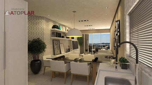 Apartamento Garden Com 2 Suíte À Venda, 70 M² Por R$ 770.000 - Bombas - Bombinhas/sc - Gd0131