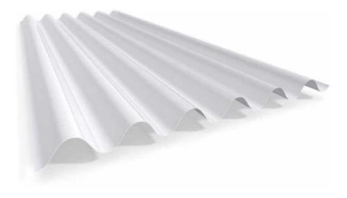 Chapa Plástica Acanalada De Fibra Blanca X Metro X 0,8 Mm