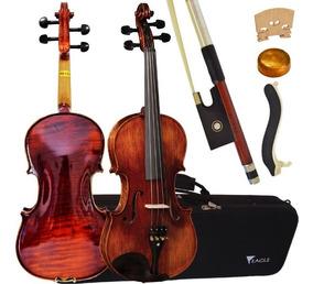 Violino Profissional Vk544 4/4 Eagle + Espaleira Case Breu