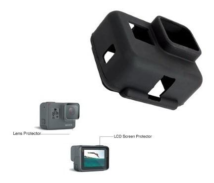 Capa Protetora Silicone Gopro Hero 5 Go Pro Película Touch