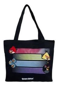 Shop Tote Bag Sacola Bolsa Angry Birds Preta
