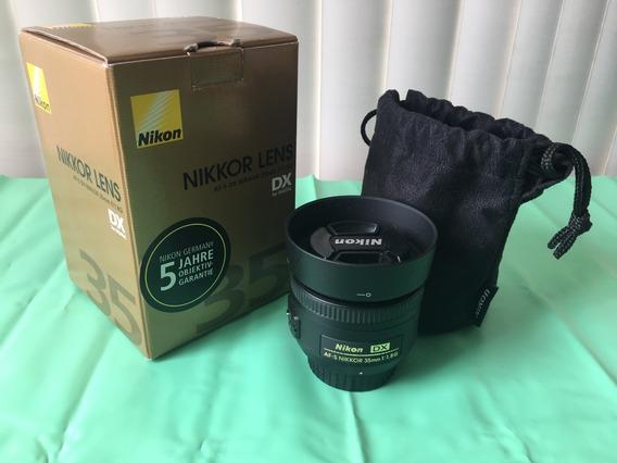 Lente Nikon 35mm F 1.8 Af-s G Com Filtro Hama 52mm