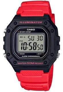 Reloj Casio Digital W-218h-4b Wr50 Ag Oficial Gtia 2 Años