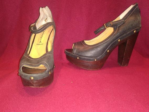 Sandalias Con Tacón Nazaria Zapatos