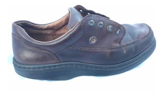 Zapato Hombre Cuero Suela Goma 29 Cm Plantilla Oferta