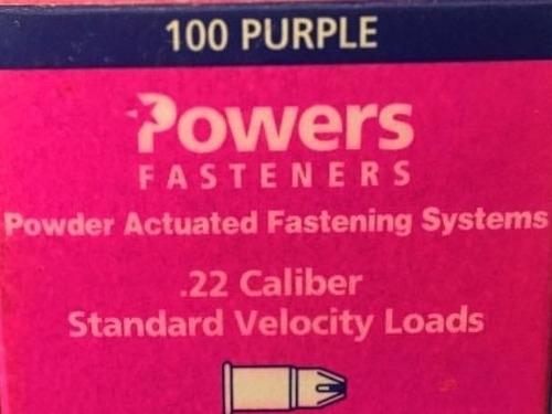 Fulminante Morado Cal 22 Marca Power Fasteners