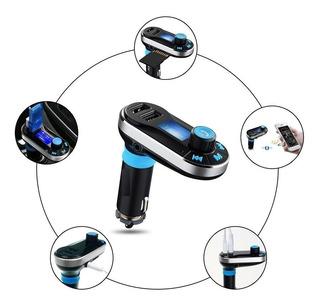Transmisor Fm Carro Con Bluetooth Manos Libres Mp3 Usb + Sd