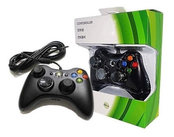 Controle Com Fio Usb Para Game Xbox 360 E Pc Marca Feir