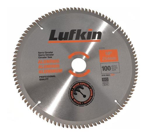 Lamina De Serra Circular 250mm X 100 Dentes P/ Aluminio