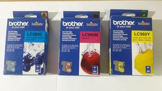 Cartuchos Brother Originales Lc 980 Colores (y-c-m ) Combo