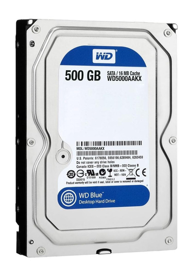 Disco rígido interno Western Digital WD5000AAKX 500GB azul