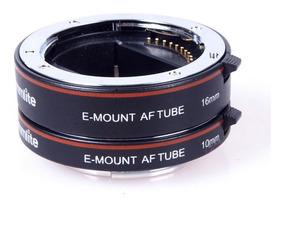 Tubo De Extensão Macro 10mm E 16mm Para Lentes Sony E-mount