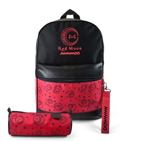Mochila Escolar Kpop + Estojo + Chaveiro Mamamoo Red Moon
