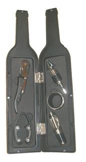 Set Accesorios Vino 4 Piezas Sacacorcho 2 Tiempos Botella