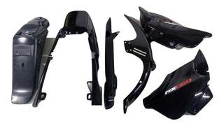 Kit Plasticos Vini Oem Parts Zanella Rx 150 6 Piezas Negro