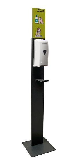 Pedestal Isaac Para Dispensador De Gel Antibacterial Negro