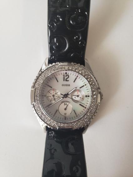 Relógio Guess Original - Preto Com Prata