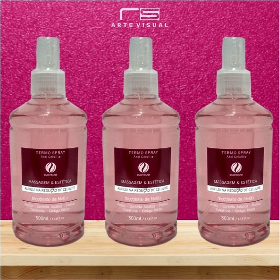 3 Termo Spray Anti-celulite - 500 Ml Duotrato