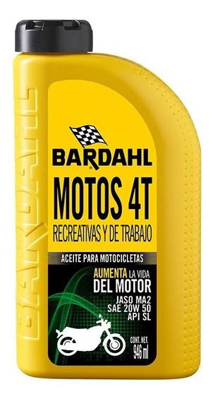 Aceite Multigrado P Motos 4 Tiempos 20w-50 Sn 946 Ml Bardahl