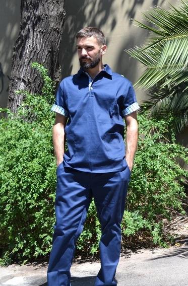 Ambo Olli Diseño Hombre Acrocel Liso Azul Marino Benicio
