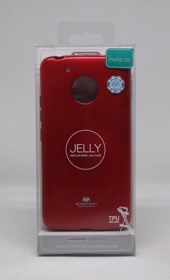 Funda Motorola G5 Mercury Goospery Jelly Case Rojo