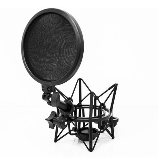 Kit Com Shockmount E Pop Filter Lsm-18 Kit Lexsen Nfe