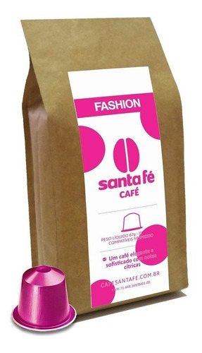 Café Santa Fé Fashion Cápsula Comp. Nespresso C/15 Unidades