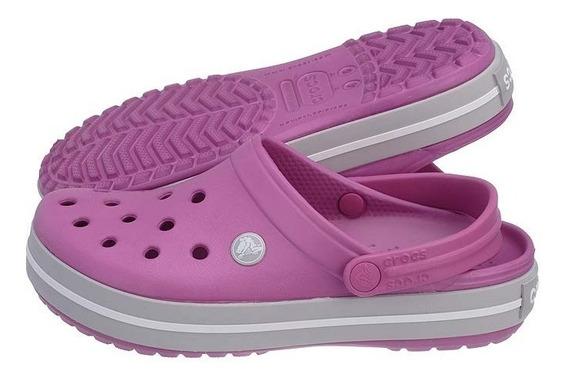 Crocs Crocband Violeta Ligth Grey
