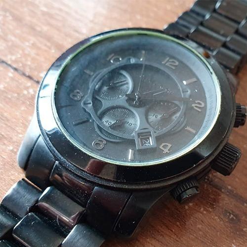 Relógio Michael Kors Mk 8157 Preto Usado