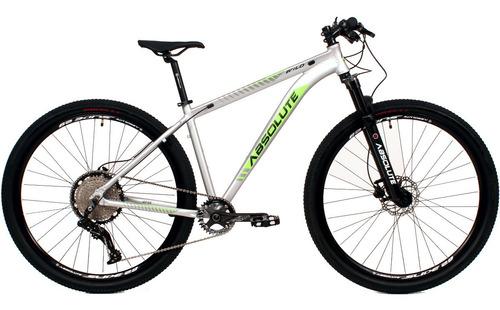Imagem 1 de 4 de Bicicleta Absolute 12v Wild 29 Prata/verde Trava No Guidão