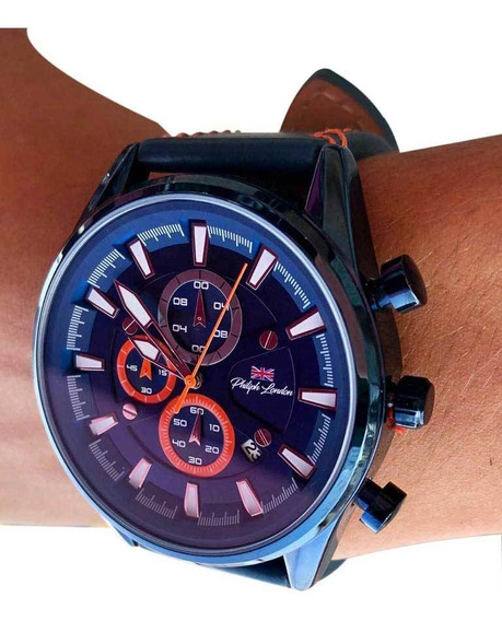 Relógio Analógico Azul Masculino Philiphlondon Pl80017612m
