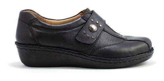Zapatos Zapatillas Mujer Cavatini Cuero Vacuno Velcro Y Elastico Pie Delicado 35-41