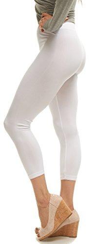 Malvina Lush Moda Leggings Capri De Algodon Suave - Colores