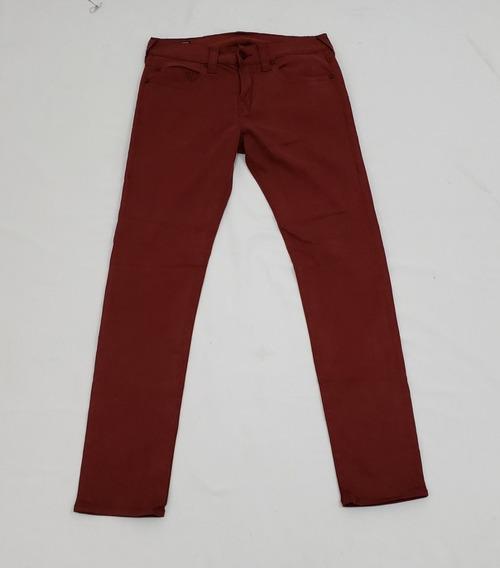 Pantalon True Religion Talla 32 Relaxed Skinny Vino.