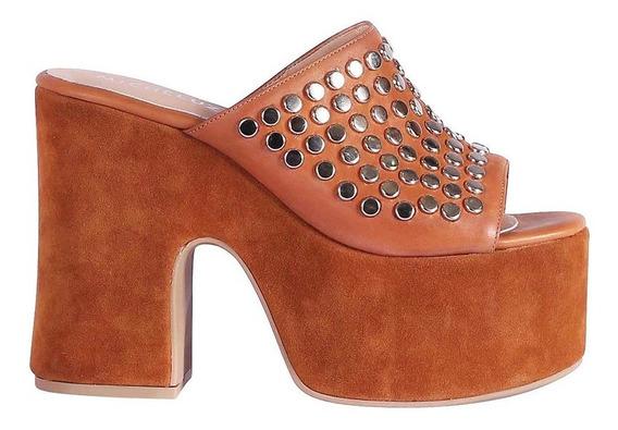 Zapato Tipo Sueco Con Plataforma Micheluzzi C/apliques
