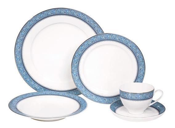 Jogo De Jantar 30 Peças Cozinha Prato Porcelana Bone China