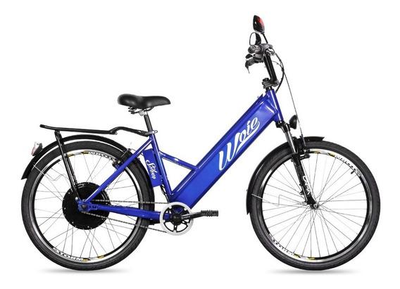 Bicicleta Elétrica Woie Silver Fabricada No Brasil - Azul