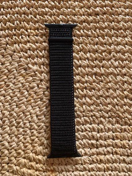 Correa Nylon Velcro Apple Watch 40mm Negro