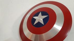 Réplica Do Escudo Do Capitão América 30cm Alumínio