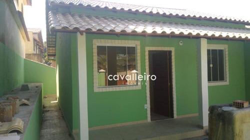 Casa Com 2 Dormitórios À Venda, 56 M² Por R$ 210.000,00 - Bambuí - Maricá/rj - Ca4122