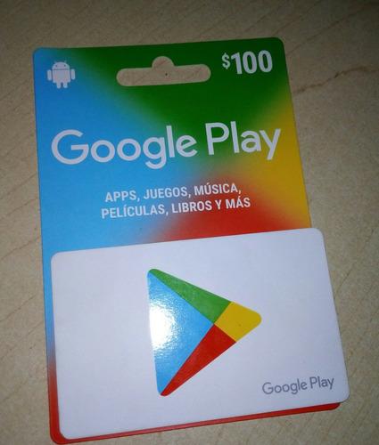 Imagen 1 de 1 de Tarjeta De Regalo Y/o Saldo Google Play $ 100