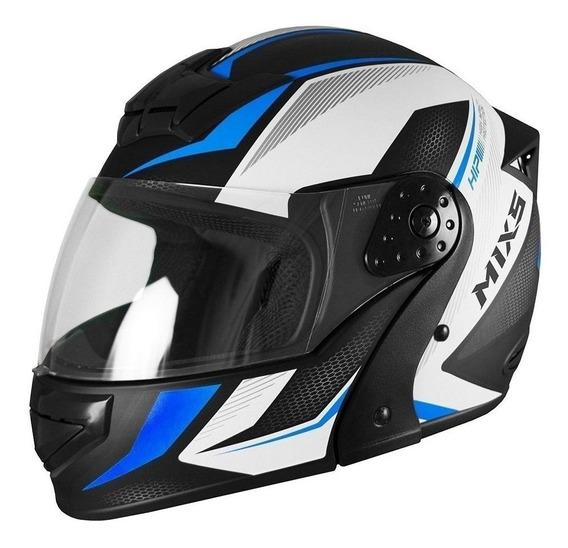 Capacete para moto escamoteável Mixs Gladiator Neo Fosco azul tamanho 60
